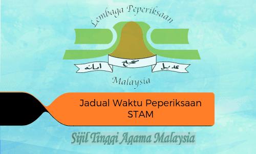 jadual waktu peperiksaan stam 2019